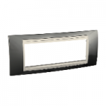 Italian Cover Frame Unica Plus IT, Champagne/Ivory, 6 modules
