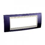 Italian Cover Frame Unica Plus IT, Indigo blue/Ivory, 6 modules