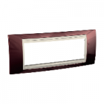 Italian Cover Frame Unica Plus IT, Terracotta/Ivory, 6 modules