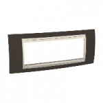 Italian Cover Frame Unica Plus IT, Cacao/Ivory, 6 modules