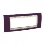 Italian Cover Frame Unica Plus IT, Garnet/Ivory, 6 modules