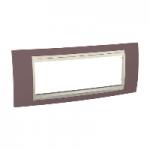 Italian Cover Frame Unica Plus IT, Mauve/Ivory, 6 modules