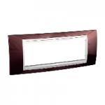 Italian Cover Frame Unica Plus IT, Terracotta/White, 6 modules