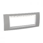 Italian Cover Frame Unica Plus IT, Mist grey/White, 6 modules
