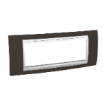 Italian Cover Frame Unica Plus IT, Cacao/White, 6 modules