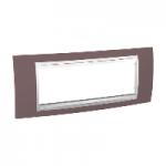 Italian Cover Frame Unica Plus IT, Mauve/White, 6 modules
