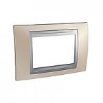 Italian Cover Frame Unica Top IT, Onyx cooper/Aluminium, 3 modules