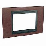 Italian Cover Frame Unica Top IT, Tobacco/Graphite, 3 modules