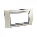 Italian Cover Frame Unica Top IT, Opal titanium/Aluminium, 4 modules