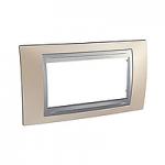 Italian Cover Frame Unica Top IT, Onyx cooper/Aluminium, 4 modules