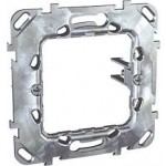 "Universal fixing frame with long fixed claws, ""Zamak"", 1-gang, mounted with stainless claws"