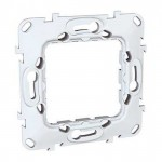 Universal fixing frame without claws, plastic, 1-gang