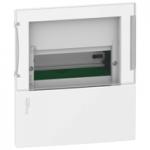Mini Pragma recessed enclosure 1 x 8, with Smoked door