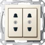 Italian-Double Socket-outlet, White