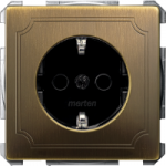 SCHUKO® Socket-outlets for special circuits, Antique brass