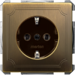 Socket-outletSCHUKO®, Antique brass