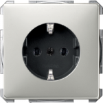 Socket-outletSCHUKO®, Stainless steel