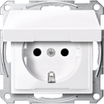 Socket-outletSCHUKO®, Shuttered  with hinged lid , Active White