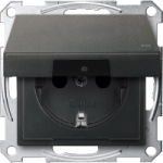 Socket-outletSCHUKO®, with hinged lid, Anthracite