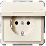 Socket-outletSCHUKO®, with hinged lid, White, IP44