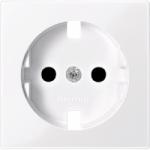 Central plate, shuttered forSCHUKO® socket-outlet Insert, Active White