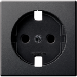 Central plate, shuttered forSCHUKO® socket-outlet Insert, Anthracite