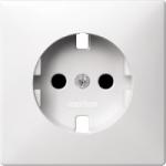 Central plate, shuttered forSCHUKO® socket-outlet Insert, Polar White