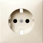 Central plate, shuttered forSCHUKO® socket-outlet Insert, White