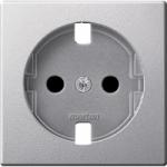 Central plate forSCHUKO® socket-outlet Insert, Aluminium
