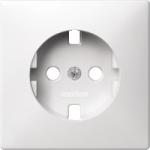 Central plate forSCHUKO® socket-outlet Insert, Polar White