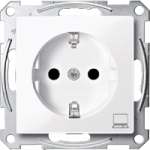 SCHUKO® socket-outlet marked Computer, Active White