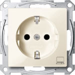 SCHUKO® socket-outlet marked Computer, White