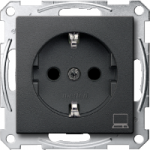 SCHUKO® socket-outlet marked Computer, Anthracite