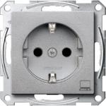 SCHUKO® socket-outlet marked Computer, Aluminium