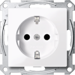 Socket-outletSCHUKO® 16 A, AC 250 V, DIN 49440, shuttered, Active White