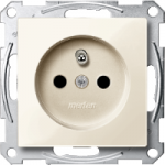 Socket-outlet insert with pin earth, shuttered, White