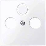 Central plate for antenna socket-outlets 2/3 holes, Active White