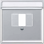 Central plate with square opening, Aluminium