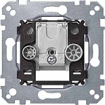 Antenna intermediate socket-outlet insert, 2 outputs R/TV+SAT