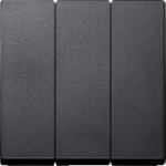 RockerTriple switch or button 3-gangs, Anthracite