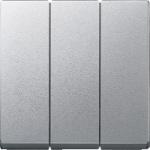 RockerTriple switch or button 3-gangs, Aluminium