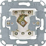 Two way key switch insert for DIN cylinder locks, 2-poles, 10 A, 250 V AC