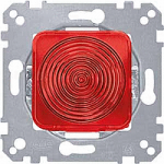 Light signal E 10 insert, hood, red