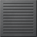 Central plate for acoustic signal generators, Anthracite