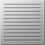 Central plate for acoustic signal generators, Aluminium