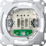 Two-way switch insert 1 pole with locator light, 16 AX, 250 V AC, screwless terminals