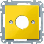 Central plate for emergency stop switch, Yellow