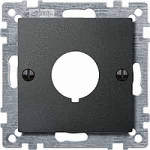 Central plate for command devices, Anthracite