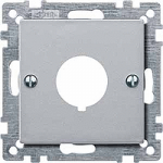 Central plate for command devices, Aluminium