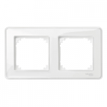 M-Creative real glass frame, 2-gang, Transparent, glossy
